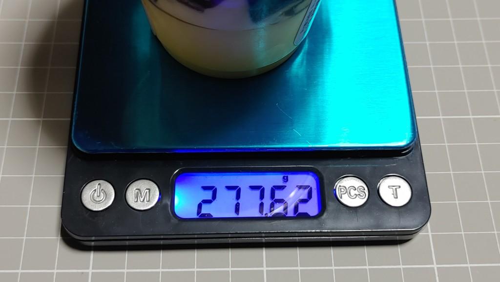 ファミリーマートの窯出しプリンのパフェの重量