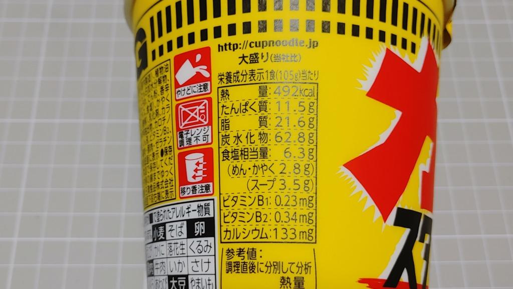 日清 カップヌードル ガツン!とスタミナ醤油のカロリー